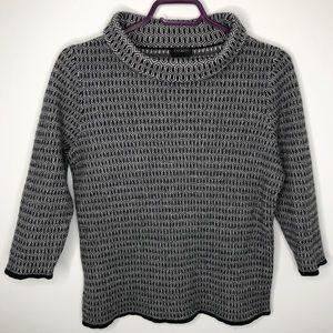 Talbots Merino Wool Printed Sweater Size Large
